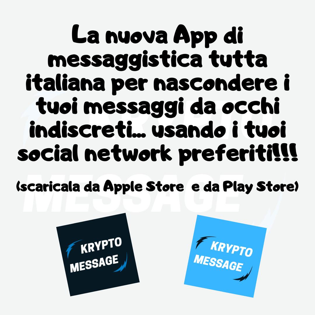 La nuova App di messaggistica tutta italiana per nascondere i tuoi messaggi da occhi indiscreti... e continui ad usare i tuoi social network preferiti!!!